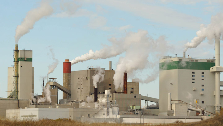 Weyerhaeuser's Prince Albert, Saskatchewan based pulp and paper mill shown Oct. 11, 2005, several days after the company announced it's plans to cease operations at that location. Domtar bought the plant in 2007 and then sold it to Paper Excellence in 2011.