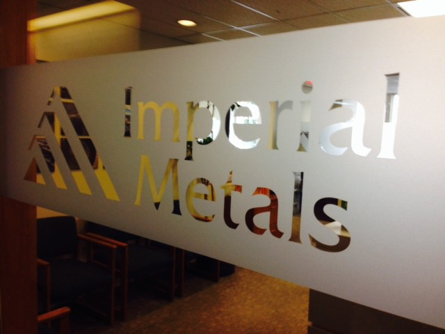 The office of Imperial Metals Corporation, which owns Mount Polley Mine and is the site of a tailings pond breach.
