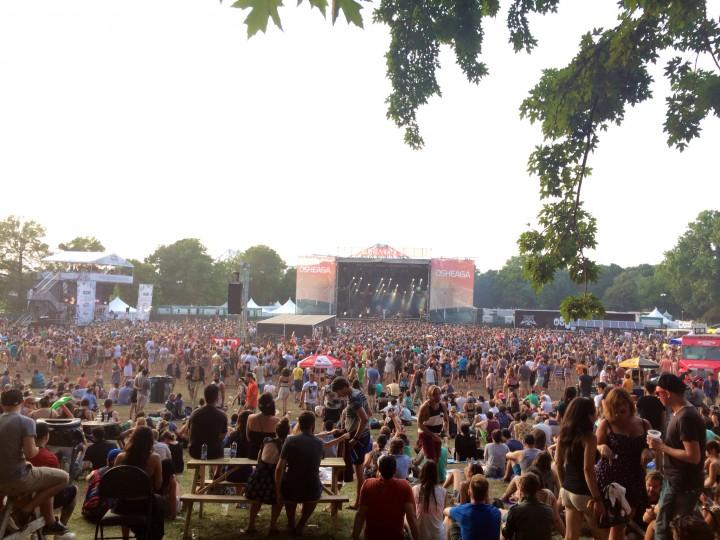 Parc Jean-Drapeau is a sea of people at Osheaga 2014.