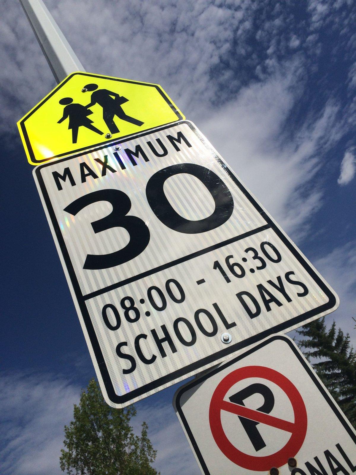 Edmonton school zone.