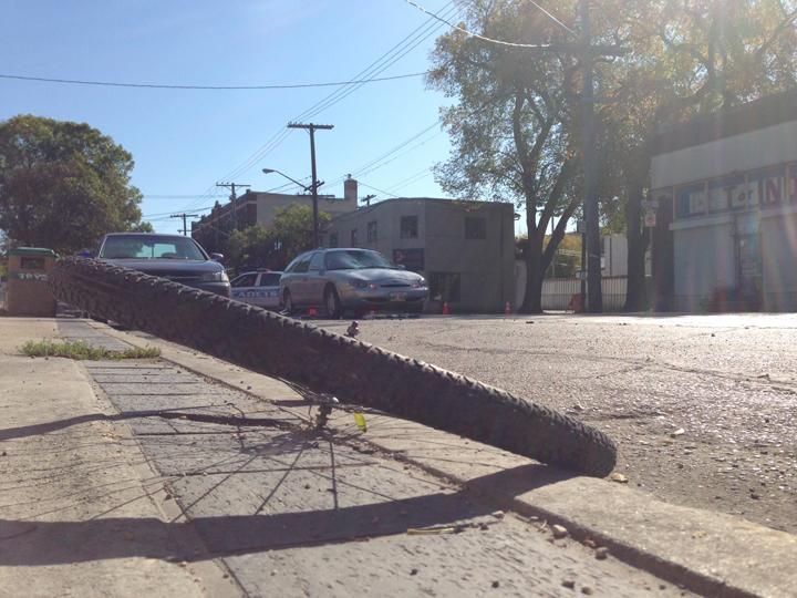 crash Winnipeg traffic Sargent Avenue bike cyclist