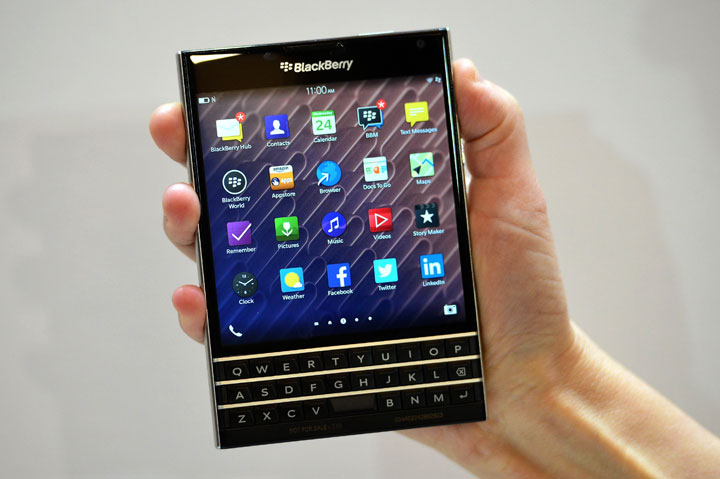 Canadian smartphone maker BlackBerry has become the laughing stock of the Internet after sending a tweet from its official account from a competitor's device.