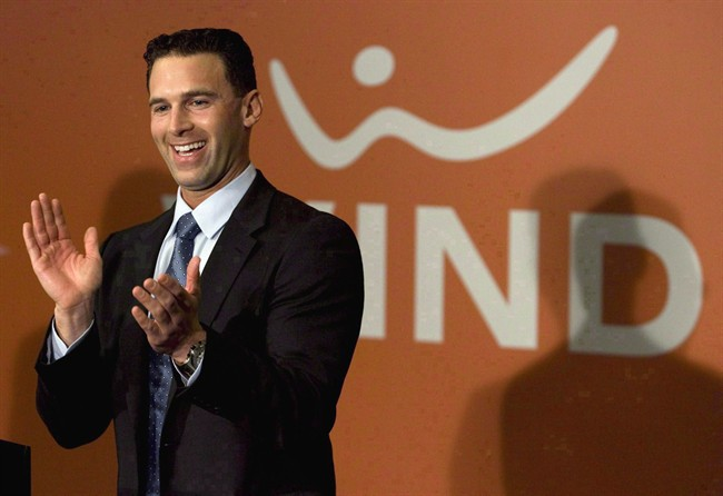 Wind Mobile chairman Anthony Lacavera is pictured at a press conference at the carrier's launch in Toronto in December 2009.