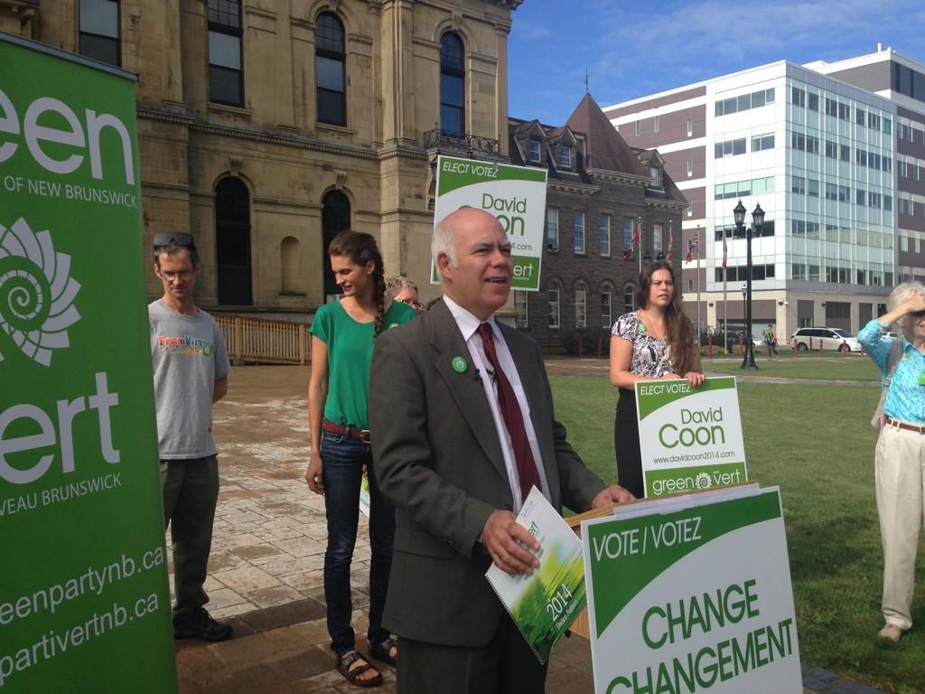 New Brunswick Green Party leader David Coon