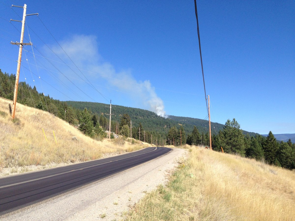 UPDATE: Perimeter set around forest fire near homes in Joe Rich - image