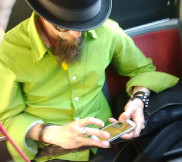A photo of an unidentified male who is allegedly accused of assaulting a female passenger after not allowing her to sit next to him.