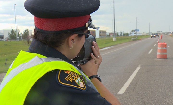 The Saskatchewan-wide traffic safety spotlight focused on one of the leading factors in fatal crashes.