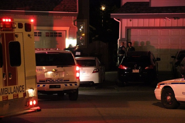 The scene of a home invasion in Surrey, B.C. on Sept. 23, 2014.