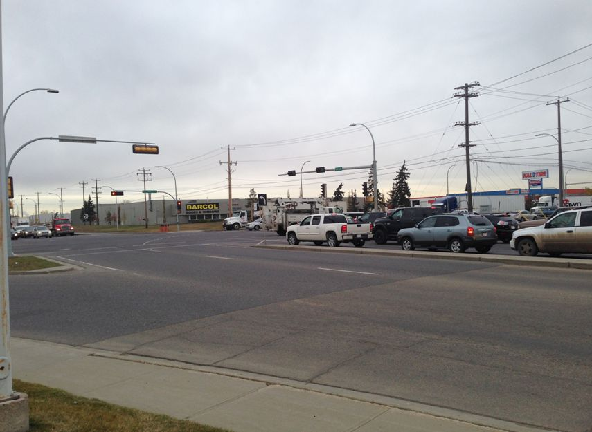 Yellowhead Trail and 149 Street, October 15, 2014.