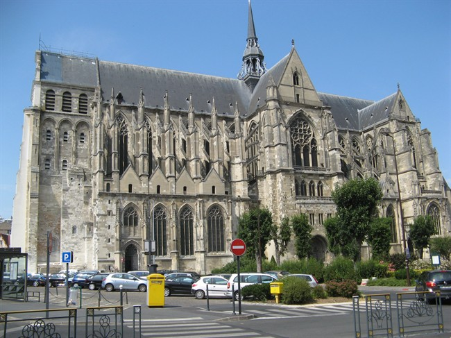 The Basilica in Saint Quentin, France, badly damaged during the First World War and later restored, is shown in this 2013 handout photo. THE CANADIAN PRESS/HO - Tom Douglas.