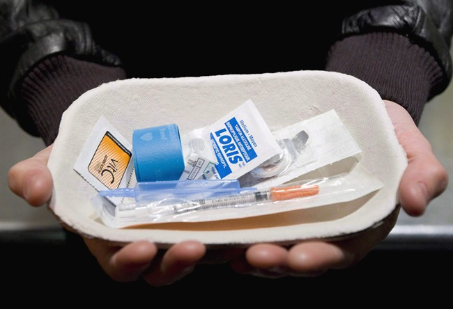 An injection kit is shown at Insite, a safe injection facility in Vancouver, on Tuesday, May 6, 2008.