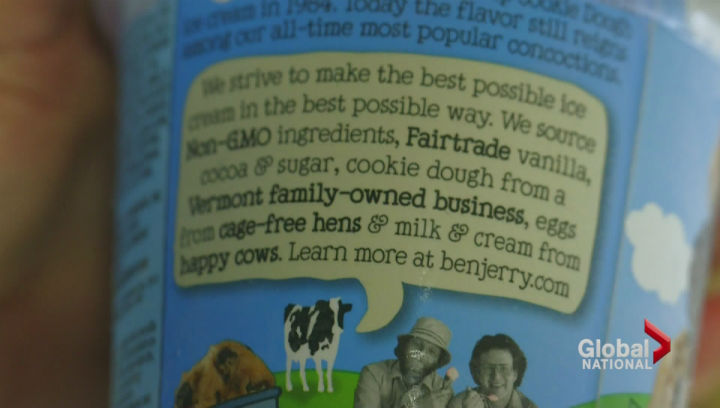 Ben & Jerry's ice cream is in the process of sourcing non-GMO ingredients