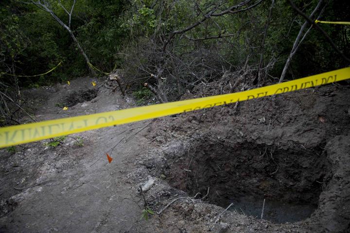 Clandestine graves are seen near Iguala, Mexico