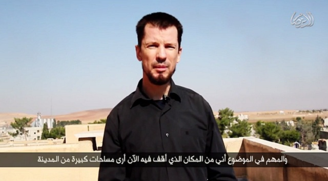 British ISIS hostage John Cantlie, in a propaganda video posted online Oct. 27, 2014.