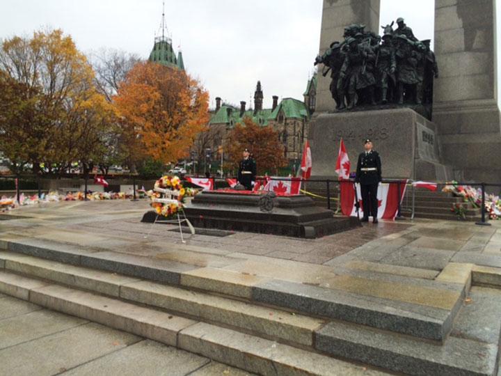 John Kerry wreath Ottawa