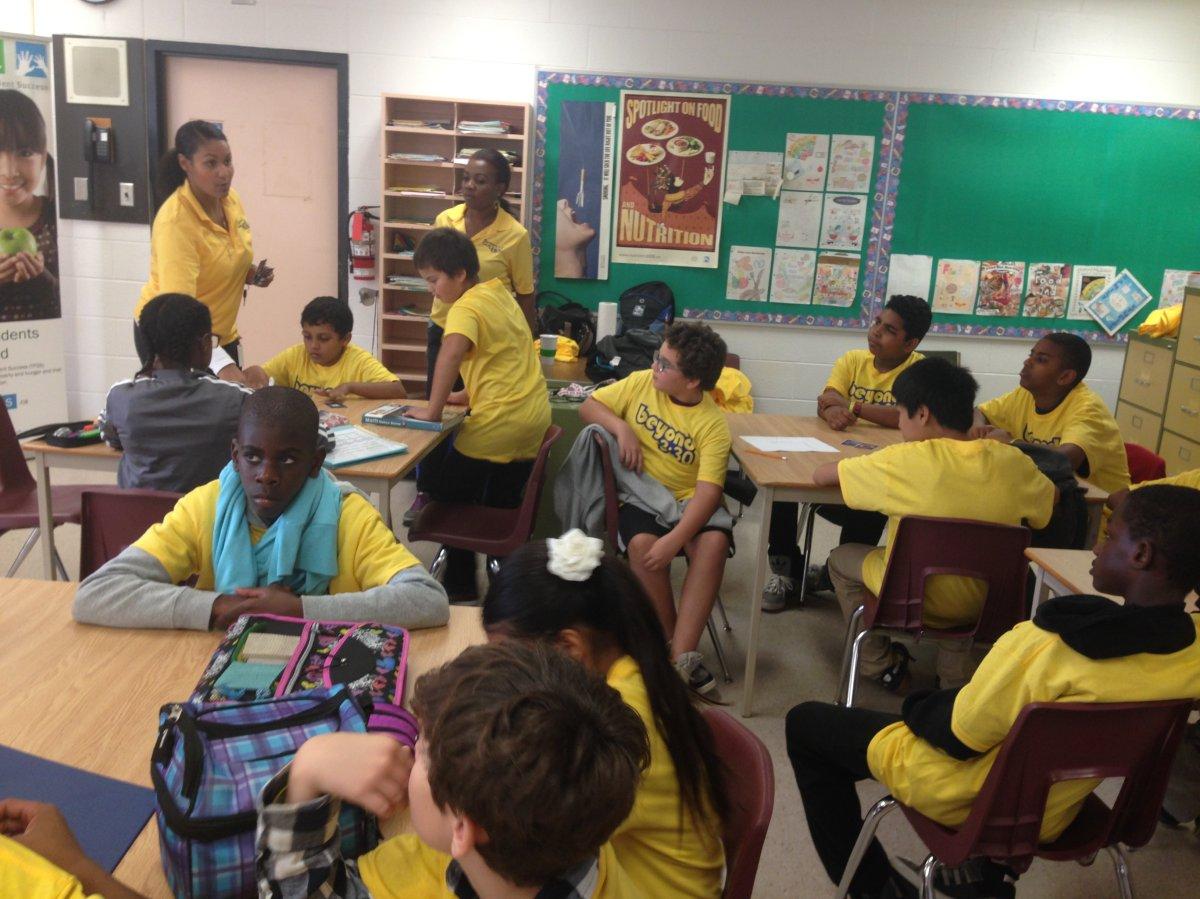 Students of Joseph Brant Public School in the Beyond 3:30 program.