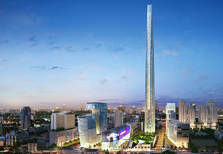 Artist rendering of the Super Tower in Thailand.