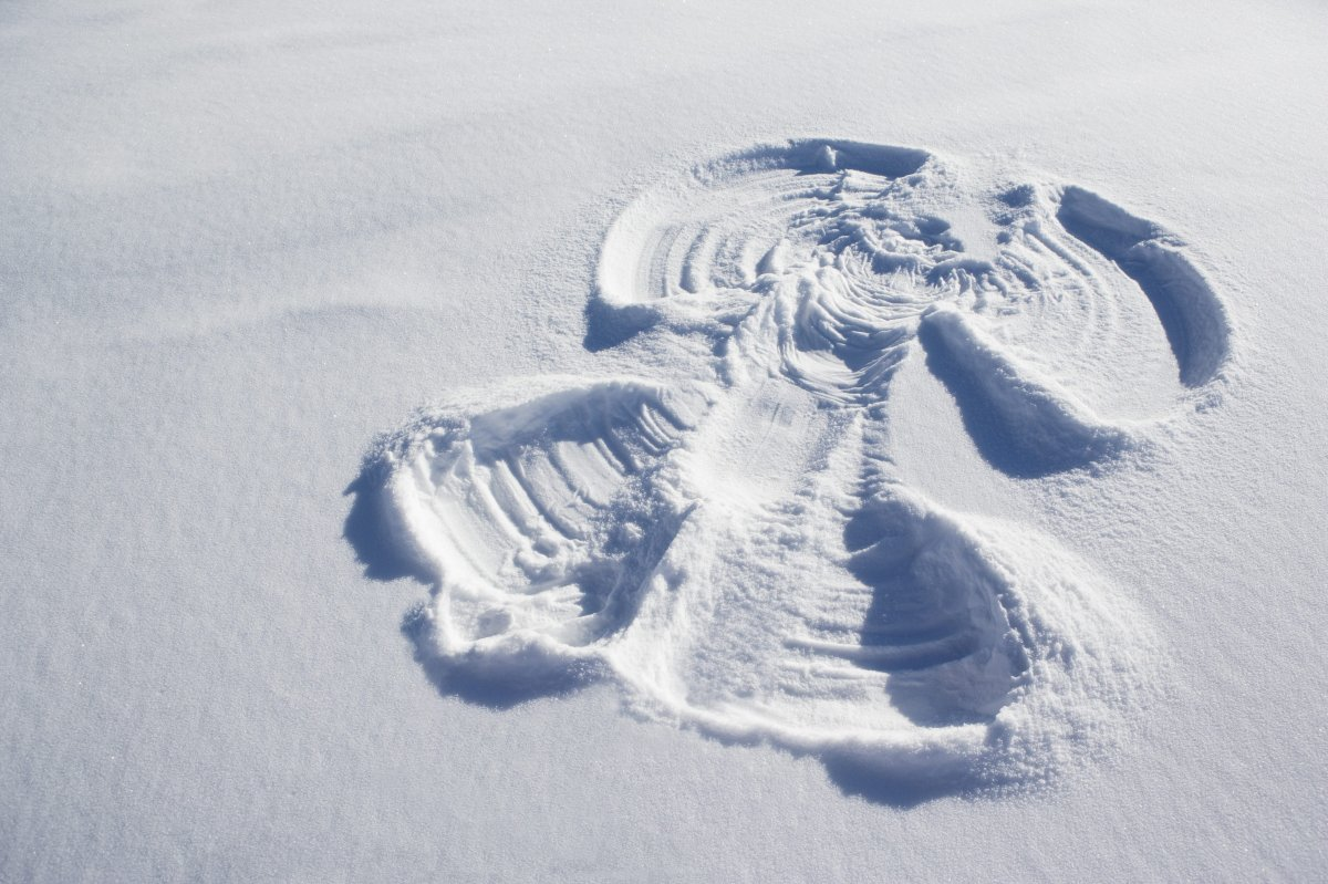 A snow angel file photo.