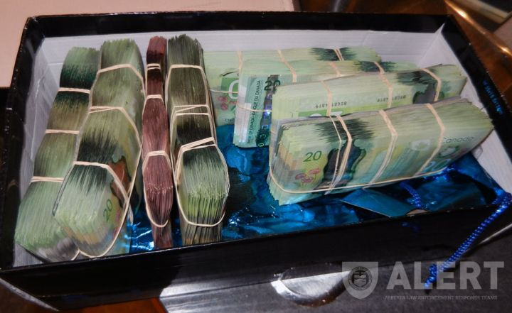 $114,000 in cash among items seized in Edmonton, Sherwood Park drug bust on Nov.6, 2014.