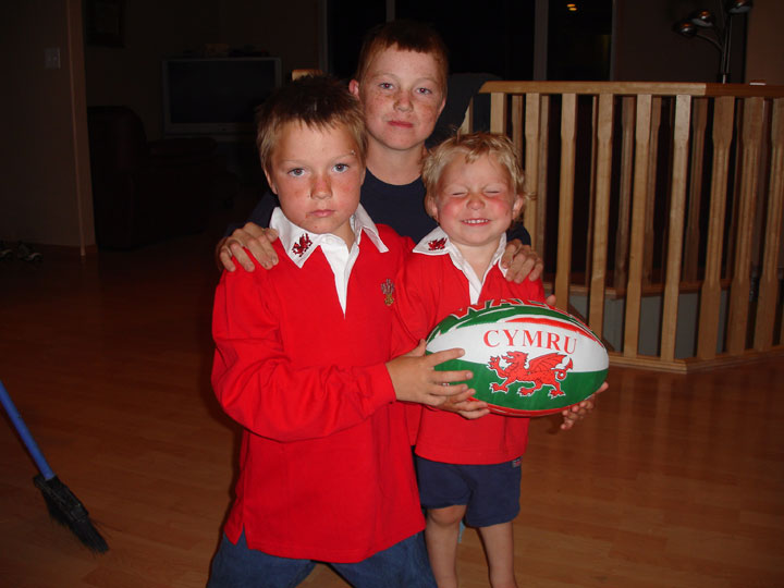 Sean, Blake and Lyndon Arnal pose with a rugby ball in this undated family handout photo. When one of her children was killed six years ago, Anne Arnal never dreamed she would have to go through the same pain again. And again. Three of her six children - her freckle-faced, youngest boys - have died in separate accidents on the family's farm.