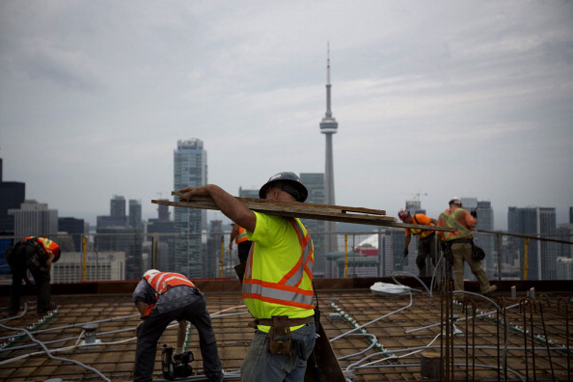 The number of condominium towers under construction in Canada -- as well as the number of workers constructing them -- remain at record high levels.