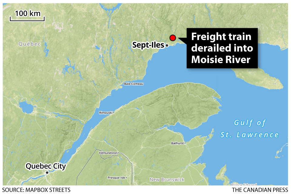 Body of train engineer recovered from wreckage in Sept-Iles - image