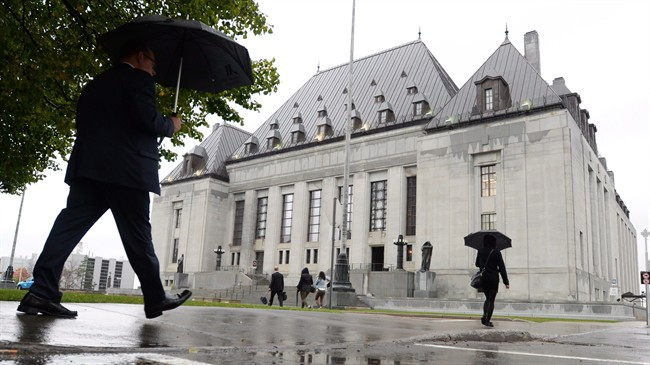 The Supreme Court of Canada building is pictured in Ottawa on Wednesday October 15, 2014.