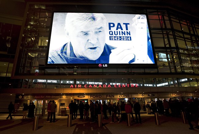 City block renamed Pat Quinn Way to commemorate hockey legend - image