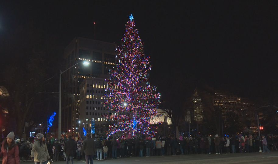 Christmas Tree Light-Up in Churchill Square; November 15, 2014.