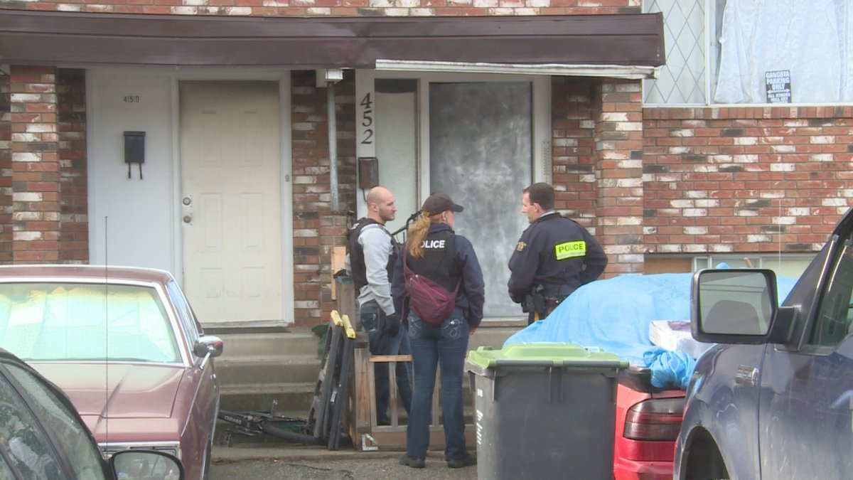 RCMP were back at a Hein Road residence Tuesday -- the same home where they arrested the alleged bus stabber last week.