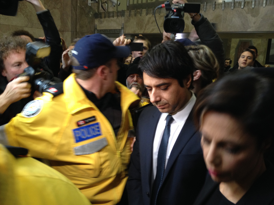 Jian Ghomeshi exits a Toronto courtroom after being released on $100,000 bail