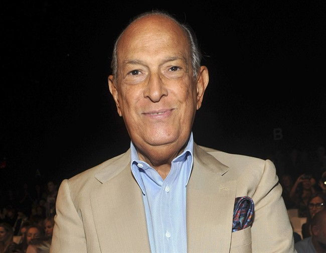 FILE - In this Sept. 11, 2011 file photo, designer Oscar de la Renta attends the Diane von Furstenberg Spring 2012  fashion show during Fashion Week in New York. Luminaries of the fashion and entertainment worlds were attending a private funeral Monday, Nov. 3, 2014, for legendary fashion designer Oscar de la Renta in New York. De la Renta died Monday, Oct. 21, 2014 at age 82.