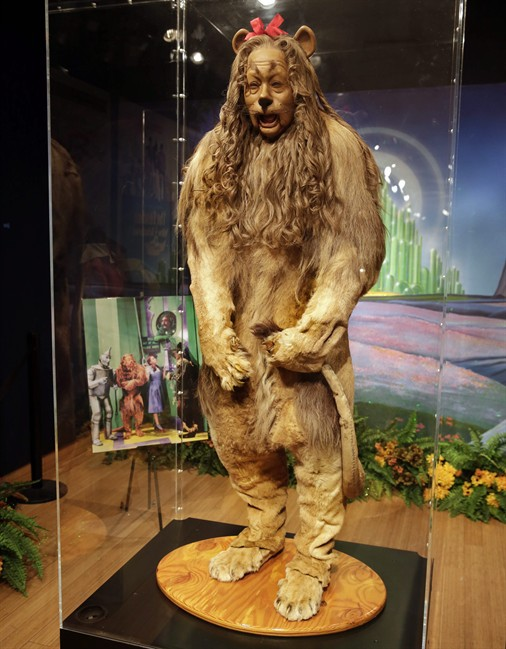 The Cowardly Lion costume, pictured on Nov. 21, 2014.
