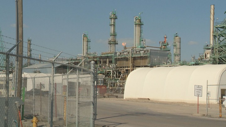 There were some tense moments after a leak in a connection was discovered at the Consumers Co-op Refinery in Regina.