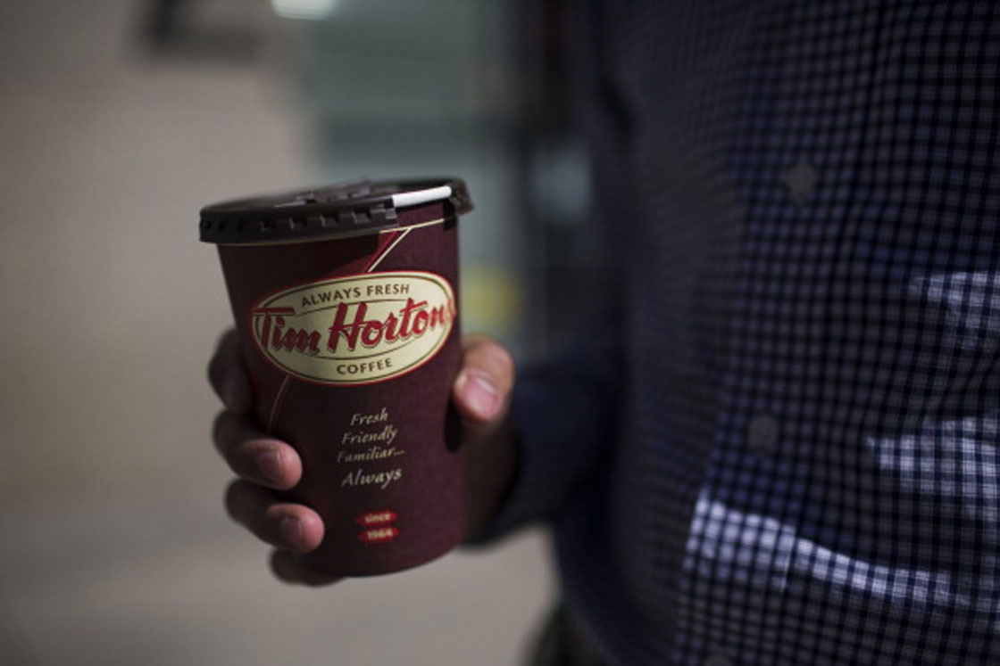 The price of a Tim Hortons coffee was increased by 10 cents on average in November.