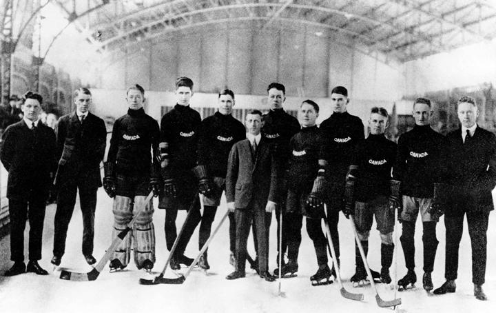 Winnipeg Falcons Olympic gold medal hockey Antwerp Belgium