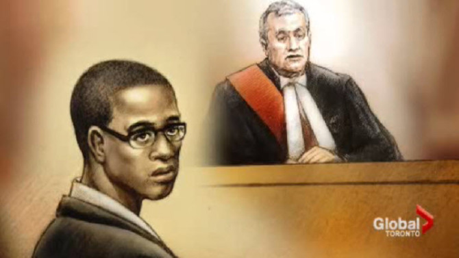 In this courtroom sketch, Christopher Husbands appears in court in Toronto in December.