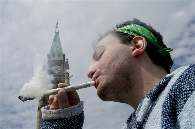 Once widely reviled by society as the demon weed, marijuana is increasingly being viewed as a potentially beneficial medication and a substance that some respected health organizations want legalized and sold like alcohol, in government-controlled outlets. At the same time, polls suggest many Canadians' attitudes toward the illicit drug are also softening. So with a federal election in the offing, and the Liberal platform calling for decriminalization, could 2015 be the year when smoking pot becomes legit? A man is shown smoking a joint at the Fill the Hill marijuana rally on Parliament Hill in Ottawa on Sunday, April 20, 2014.