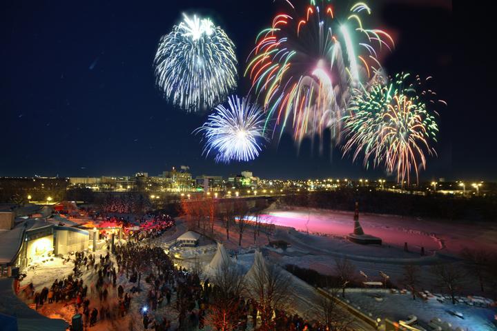 Fireworks Winnipeg Forks New Year's Eve 2013 Archangel