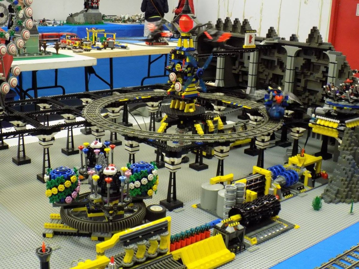 Manitoba Lego Users Group gather to create Lego art.