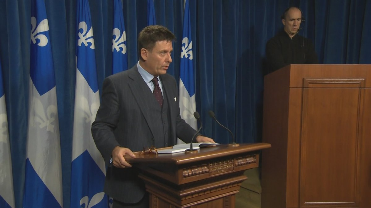 Municipal Affairs Minister Pierre Moreau at the National Assembly in Quebec.