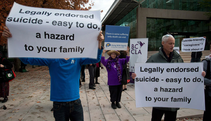 Physician-assisted suicide protest