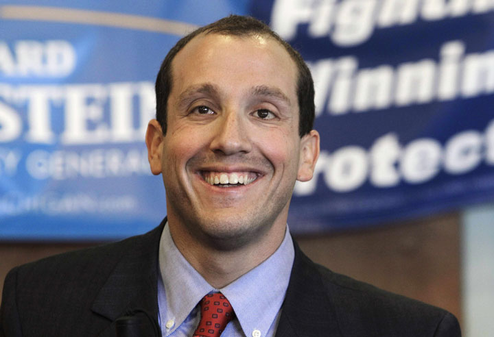 Richard Bernstein, shown above, will be sworn into office on New Year's Day.