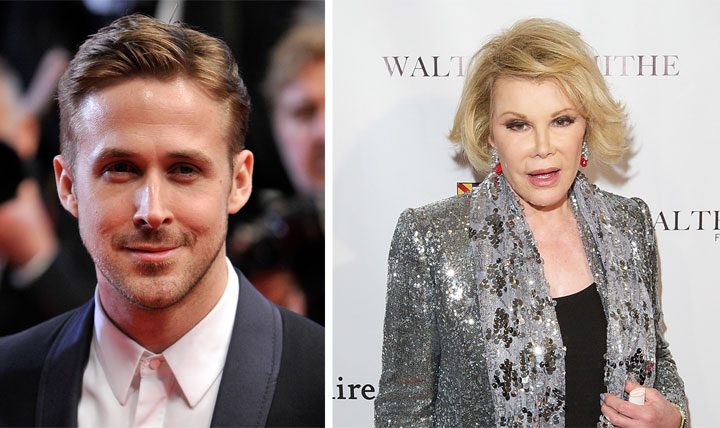 Ryan Gosling became a father in 2014; Joan Rivers passed away.