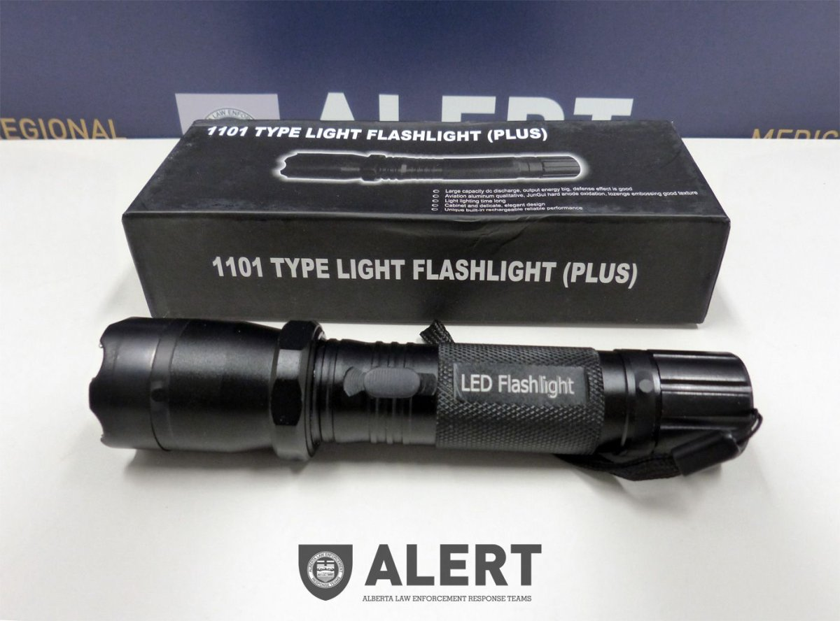 ALERT charges an Edmonton man with trying to import dozens of stun guns, Monday, Dec. 8, 2014.