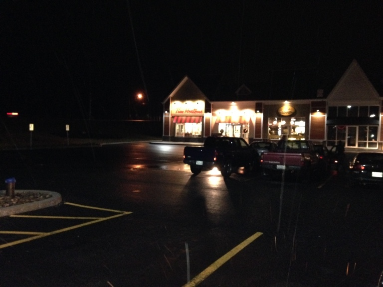 The incident happened around 5:30 p.m. on Thursday in the parking lot of the Tim Hortons on St. Margaret's Bay Road in Upper Tantallon.