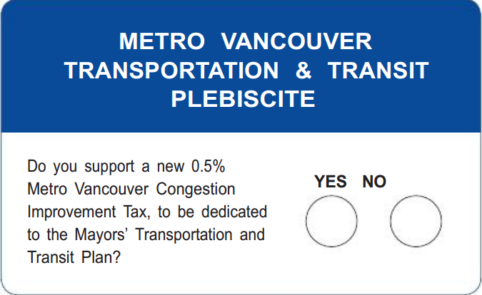 Which people and groups are for and against the transit referendum? - image