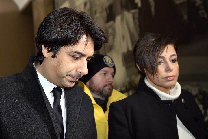 Jian Ghomeshi, left, and his lawyer Marie Henein arrive at court in Toronto on Thursday, Jan. 8, 2015.