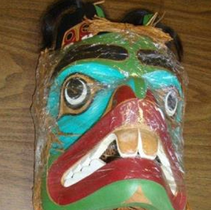 A First Nations mask was stolen from a BC Ferries.