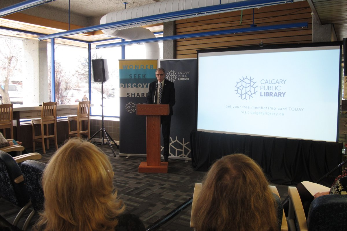 Calgary Public Library CEO Bill Ptacek launches new visual identity.